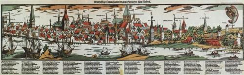 Hans Weigel, View of Rostock, c. 1550/60